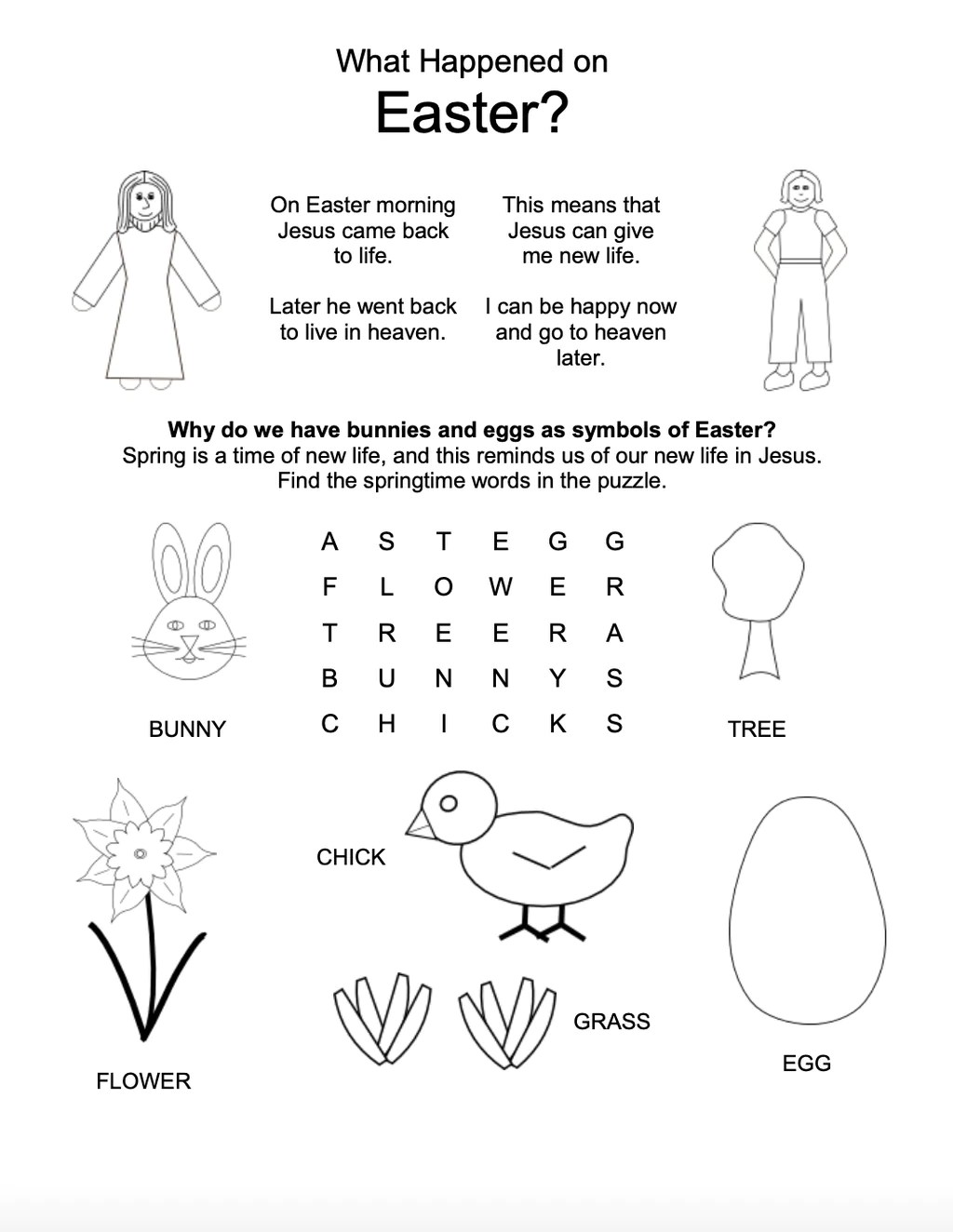 Good Friday and Easter Worksheets for Kids [ 1324 x 1024 Pixel ]